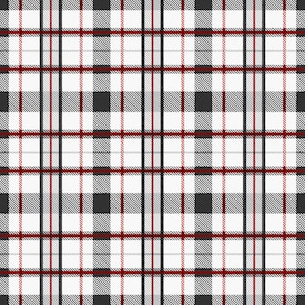 Tartan pattern seamless fabric background with red and gray tones. checkered texture plaid