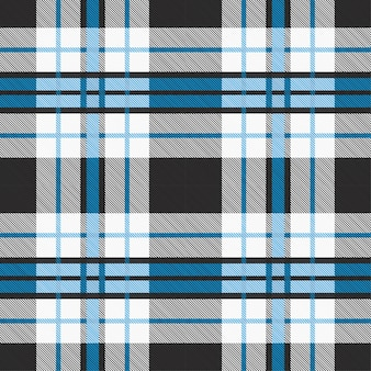 ブルーとグレーのトーンでシームレスなタータンパターン。