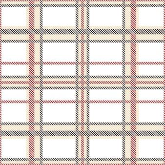 茶色と赤の色調のシームレスなタータンパターン。