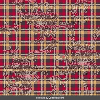 Tartan pattern with ornaments
