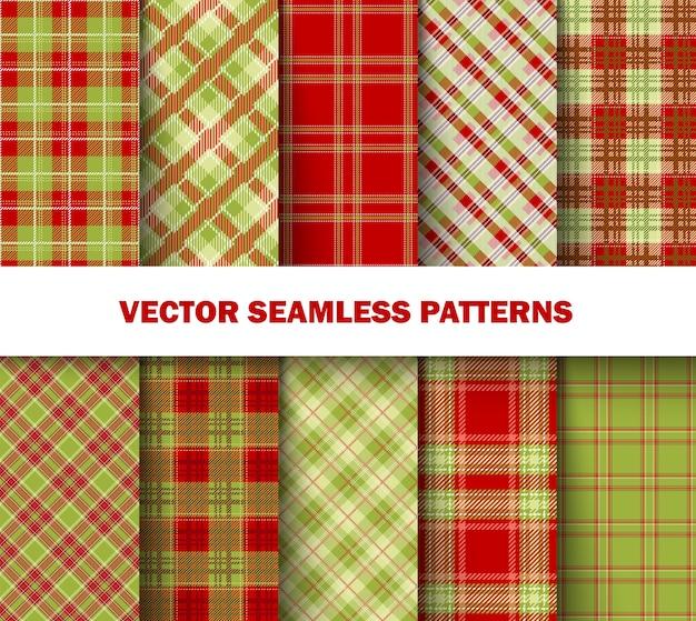 緑と赤のタータンパターン
