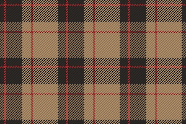 Tartan plaid pattern seamless vector background. check plaid for flannel shirt, blanket, throw, or other modern textile design.