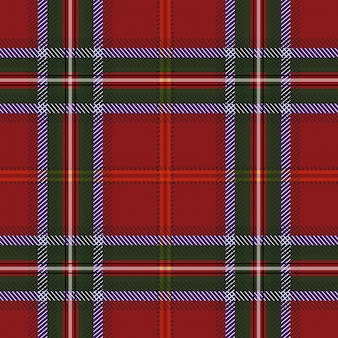 Tartan red green textile pattern