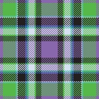 タータンスコットランドシームレスな格子縞のパターン。レトロな背景の生地。テキスタイルプリント、包装紙、ギフトカード、壁紙の色の正方形の幾何学的なテクスチャー