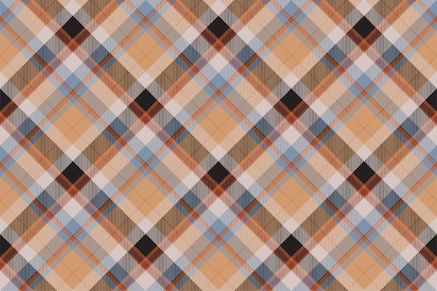 タータンスコットランドシームレスな格子縞のパターン。レトロな背景の生地。テキスタイルプリント、包装紙、ギフトカード、壁紙フラットデザインのヴィンテージチェック色の正方形の幾何学的なテクスチャー。