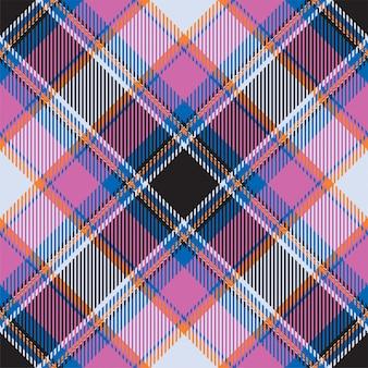 Tartan scotland seamless plaid pattern . retro background fabric. vintage check color square geometric texture. Premium Vector