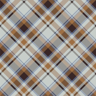 타탄 스코틀랜드 원활한 격자 무늬 패턴입니다. 레트로 패브릭. 빈티지 체크 기하학적.