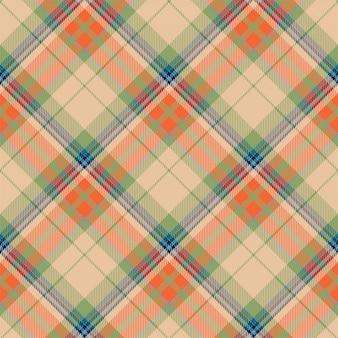 타탄 스코틀랜드 원활한 격자 무늬 패턴 벡터입니다. 레트로 배경 직물입니다. 빈티지 체크 색 사각형 형상 텍스처입니다.