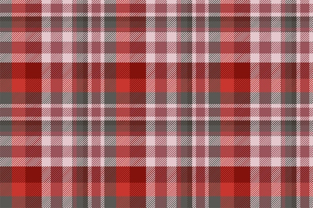 タータンスコットランドのシームレスな格子縞のパターンベクトル。レトロな背景の生地。ビンテージチェック色の正方形の幾何学的なテクスチャー。