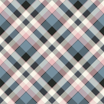 Tartan scotland seamless plaid pattern vector. retro background fabric. vintage check color square geometric texture. Premium Vector