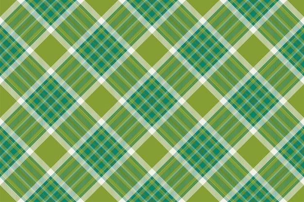 타탄 스코틀랜드 원활한 격자 무늬 패턴입니다. 빈티지 체크 색 사각형 형상 텍스처입니다. 프리미엄 벡터