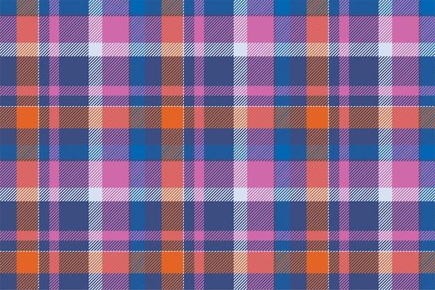 タータンチェックのスコットランドのシームレスなチェック柄。ヴィンテージの幾何学的な質感