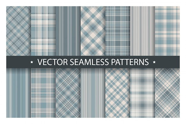 Tartan set pattern seamless plaid background