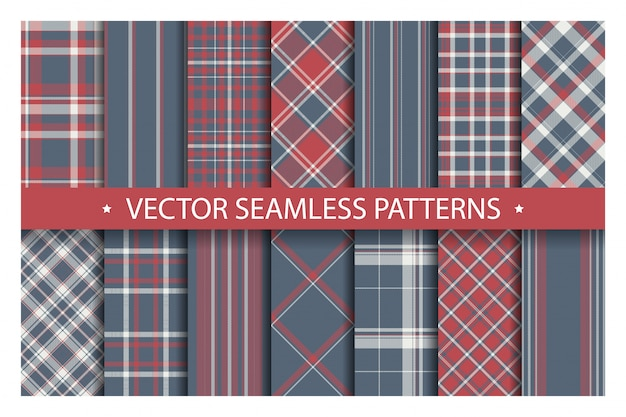Tartan set pattern seamless plaid