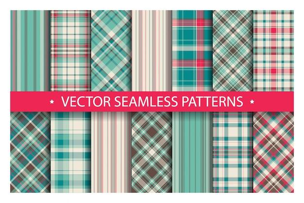 Tartan set pattern seamless plaid