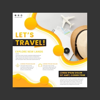 Tarveling square flyer template