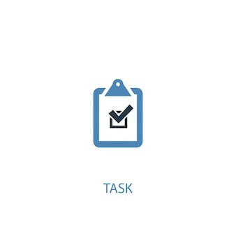 Task concept 2 colored icon. simple blue element illustration. task concept symbol design. can be used for web and mobile ui/ux