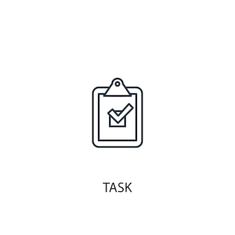 Task concept line icon. simple element illustration. task concept outline symbol design. can be used for web and mobile ui/ux