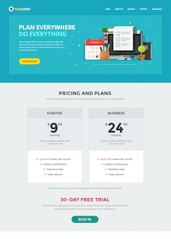 Task or to do list web site template   page