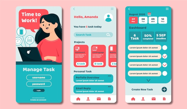 Task management app pack