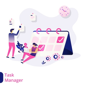 Task manager illustration