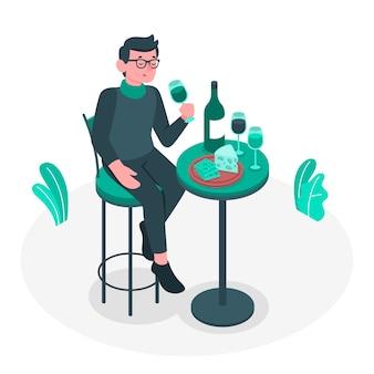 Tasting concept illustration