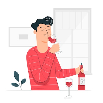 Tasting illustration concept