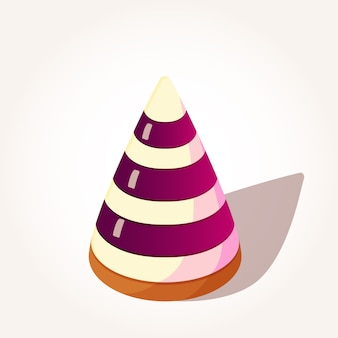 Tasty berries jelly in pyramid shape in cartoon style