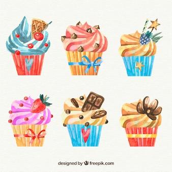 Tasty birthday muffins