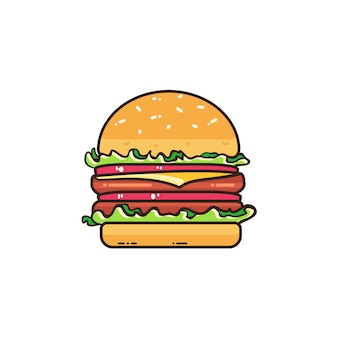 Tasty burger isolated on white