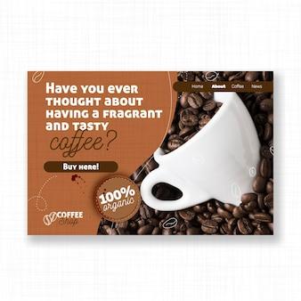 Modello di pagina di destinazione del caffè gustoso