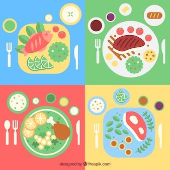 Tasty dishes of restaurant