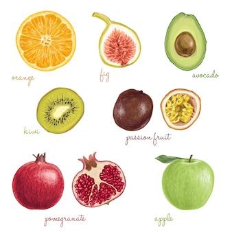 Tasty exotic fruits
