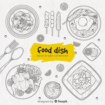Tasty food dish collection