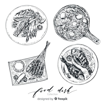 Raccolta di piatti gustosi