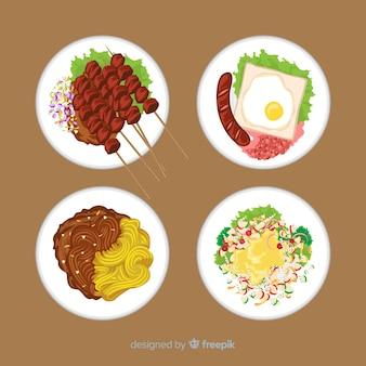 Коллекция вкусных блюд