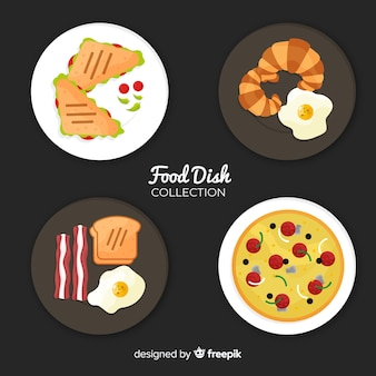 Tasty food dishes collection