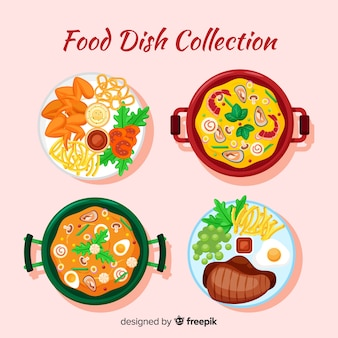 Tasty food dishes pack