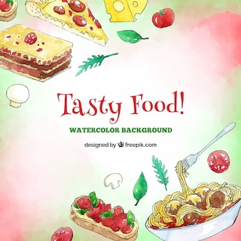 Tasty food frame background