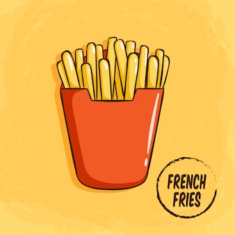 Tasty french fries clip-art