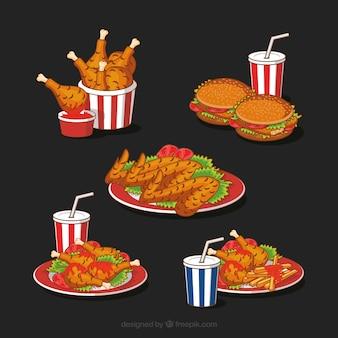 Tasty fried chicken menus