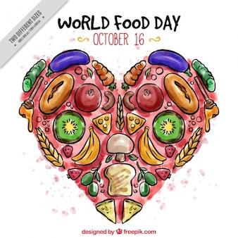 세계 음식의 날을위한 맛있는 마음