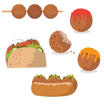 Tasty meatball vectors