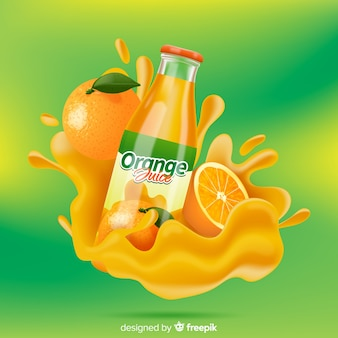 Tasty orange juice advertisement