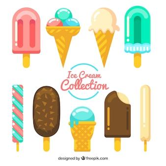 Вкусная упаковка плоских мороженого