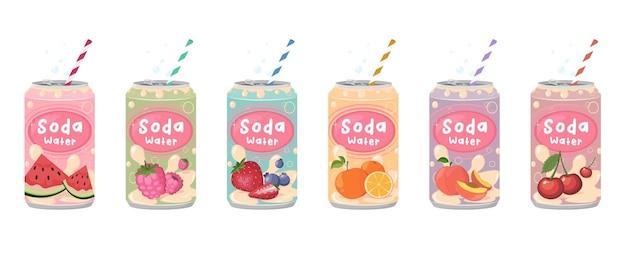 Tasty sodas drinks