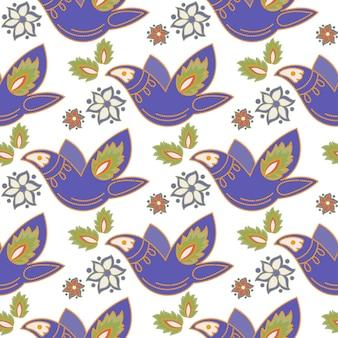 Tatar ornament white oriental seamless pattern