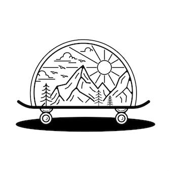 Tatto outdoor monoline badge design