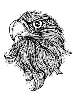 Tattoo art eagle hand drawing