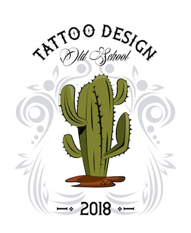 Tattoo design with old school drawings